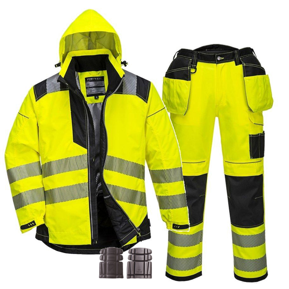 PORTWEST VISION HI-VIS RAIN JACKET & TROUSERS SUIT