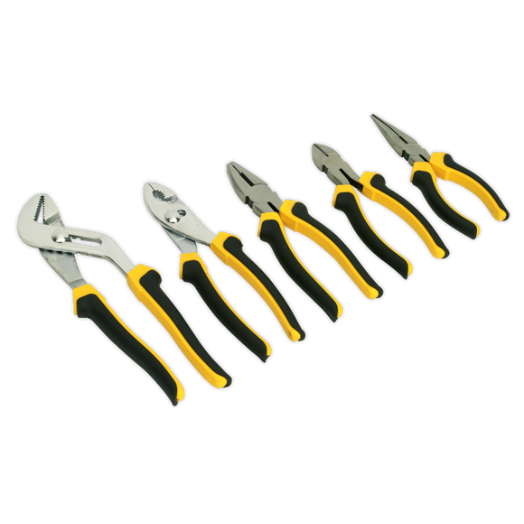 Sealey Comfort Grip Pliers Set 5pc