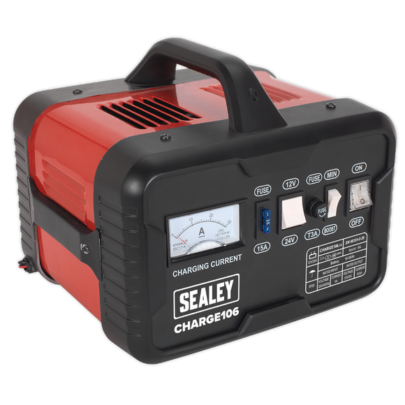 Sealey Battery Charger 8Amp 12/24V 230V