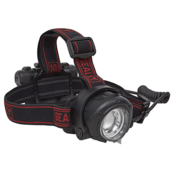 Details about  Sealey HT107R Head Torch 5W CREE XPG LED Rechargeable with Adjustable Focus & Brightness