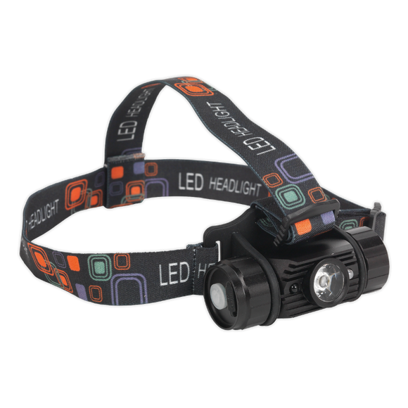 Sealey Rechargeable Head Torch 5W CREE XPG LED Auto-Sensor