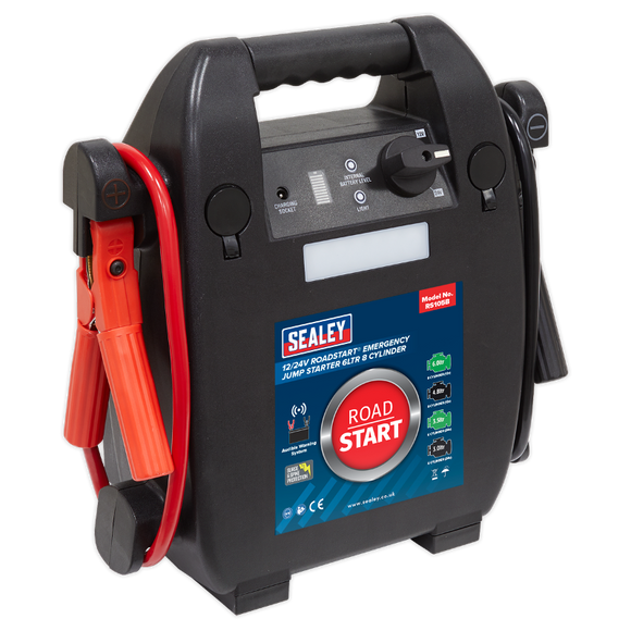 Sealey RoadStart® Emergency Jump Starter 12/24V 6L 8-Cylinder