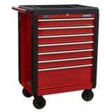 Sealey Rollcab 7 Drawer with Ball Bearing Slides - Red