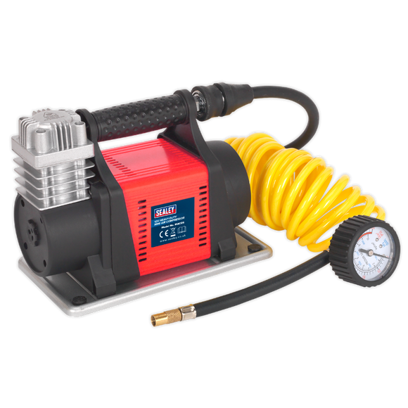 Sealey Tyre Inflator/Mini Air Compressor 12V Heavy-Duty