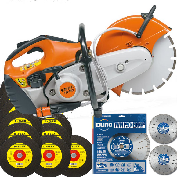STIHL TS 410 12-inch Consaw with FREE cutting discs/blades
