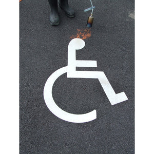 Thermoplastic Disabled Parking Symbols