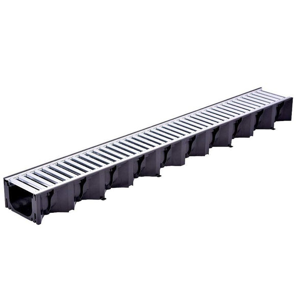 Plastic Channel Drain with Galvanised Grid
