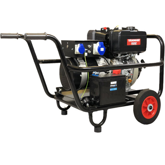 Yanmar 6Kva V-Spec Electric Start Generator, Trolley Frame