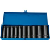"Draper 1/2"" SQ. DR. Draper HI-TORQ® Metric Deep Impact Socket Set (10 Piece )"