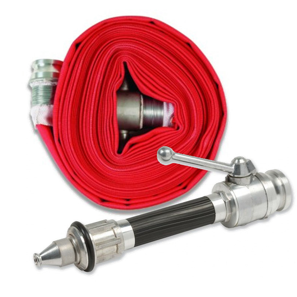 Firechief 65mm X 23m Layflat Fire Hose & Lever-operated Nozzle (LH65/23)
