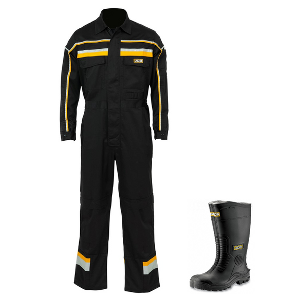 JCB Hollington Coverall & Hydromaster Black Wellington