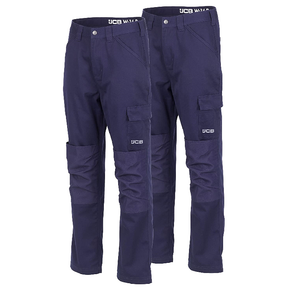 JCB TWIN PACK WORK PANTS NAVY