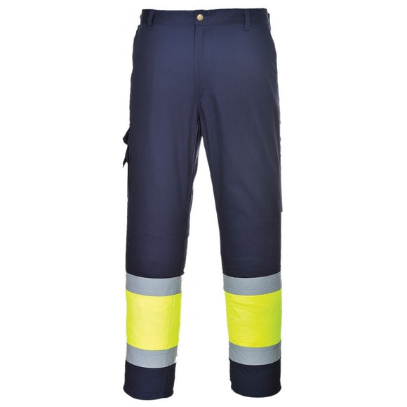 PORTWEST HI-VIS TWO TONE COMBAT TROUSERS