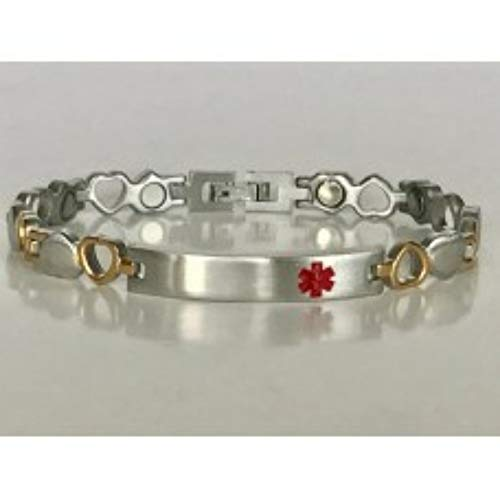 316L Stainless Steel magnetic I.D. Engravable bracelet