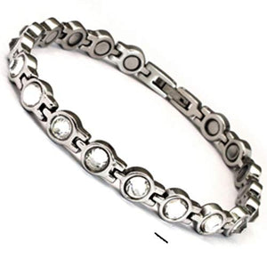 Stainless Steel magnetic bracelet with 5,000 gauss magnets