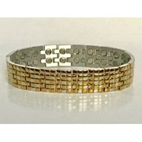 316L Stainless Steel two tone doulbe magnetic bracelet