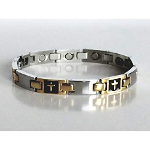 316L Stainless Steel magnetic I.D engraveable  bracelet