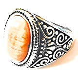 316l Heavy Stainless Steel Tigers Eye Men's Ring
