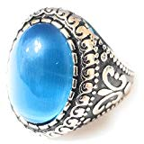 Heavy 316L Stainless Steel cat Eye Men's Womens Ring