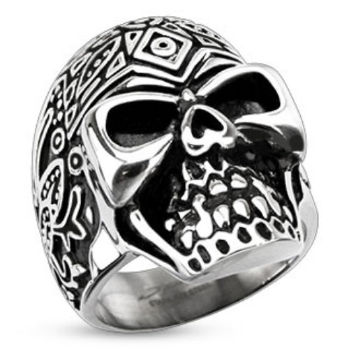 316L stainless steel skull ring