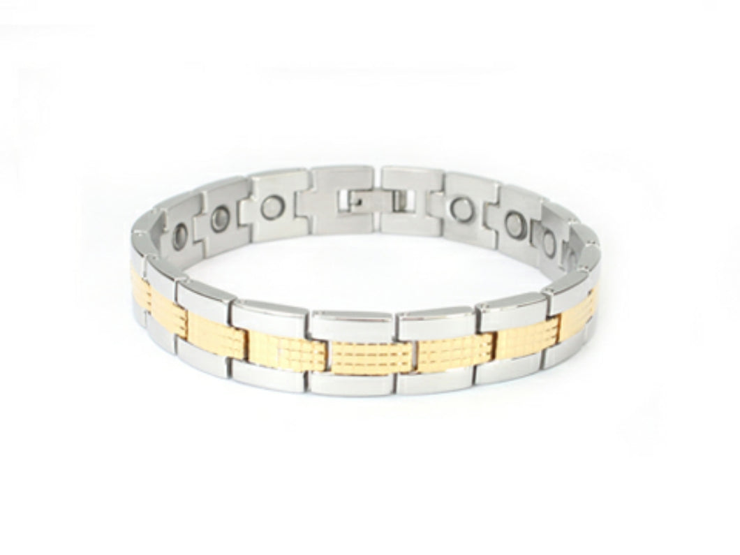 Stainless Steel mens or women's magnetic bracelet 8.5 inches