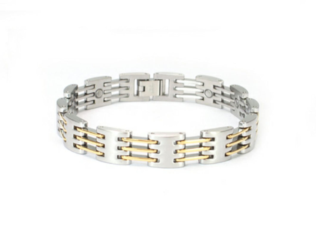 Stainless Steel mens or women's magnetic bracelet 8 inches