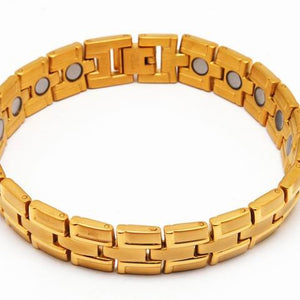 316L gold colored stainless steel magnetic bracelet 8.5 inch long