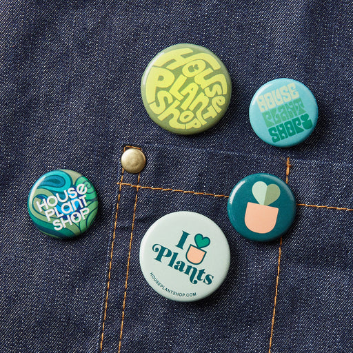 Graphic Buttons - 5 Pack - House Plant Shop
