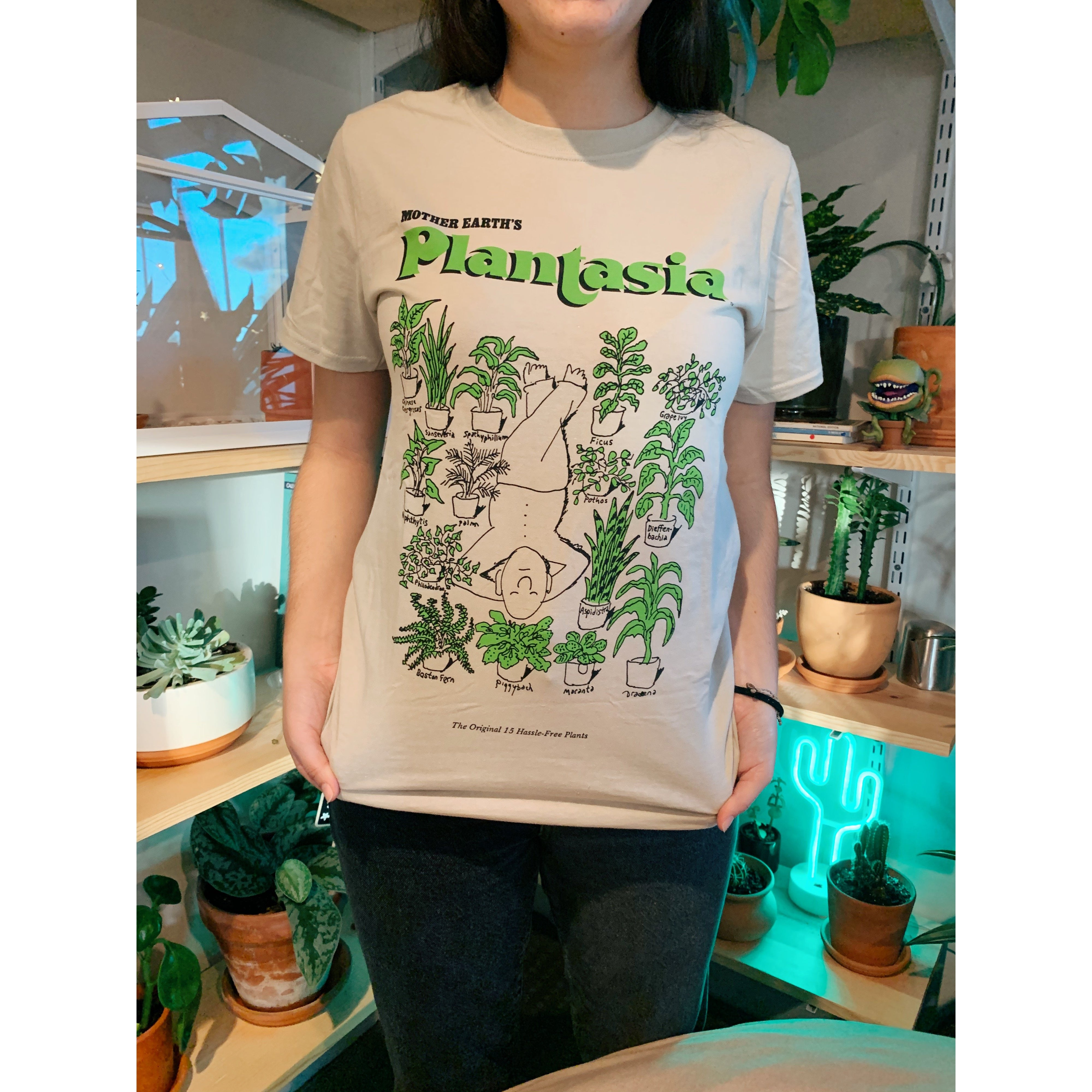 Plantasia 'Man with His Plants' T-Shirt - House Plant Shop