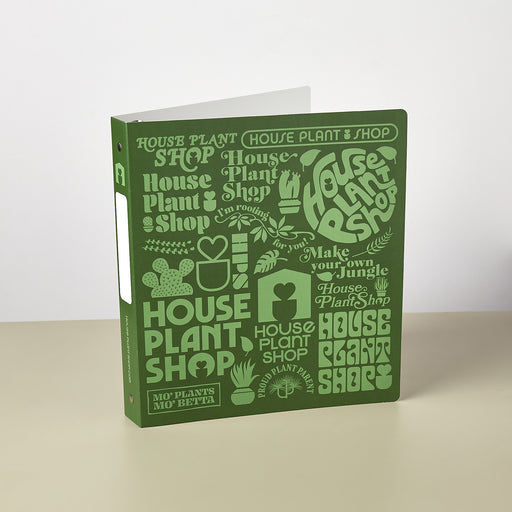 Care Card Binder w/ Sleeves - House Plant Shop