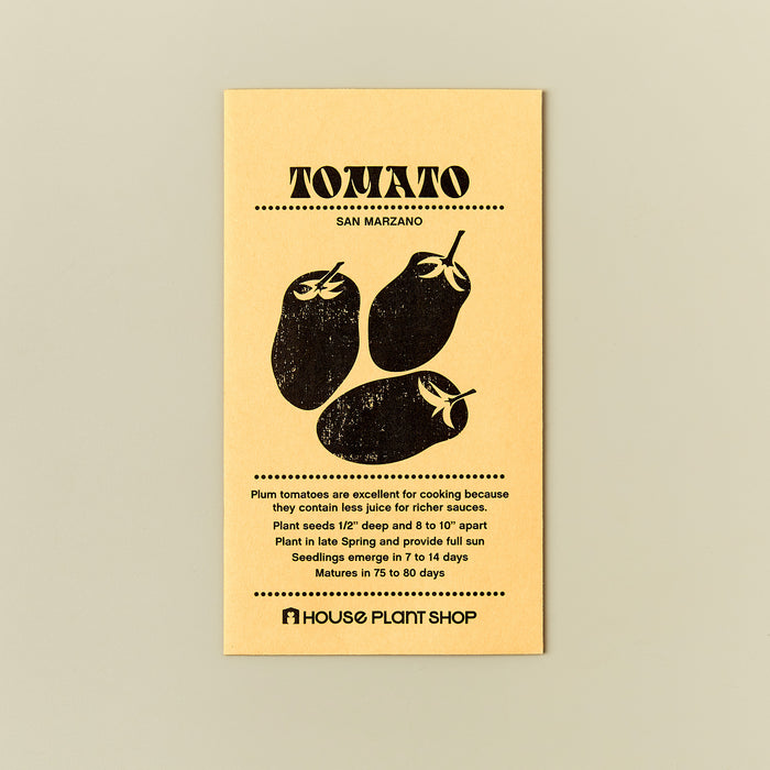 Tomato 'San Marzano' Seed Packet - House Plant Shop