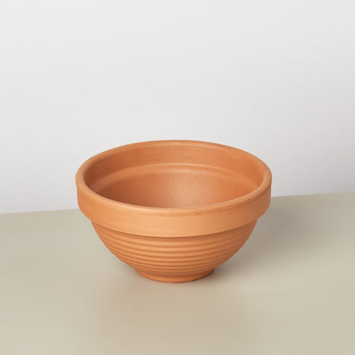 Terra Cotta Ridged Bowl - 4 Inch