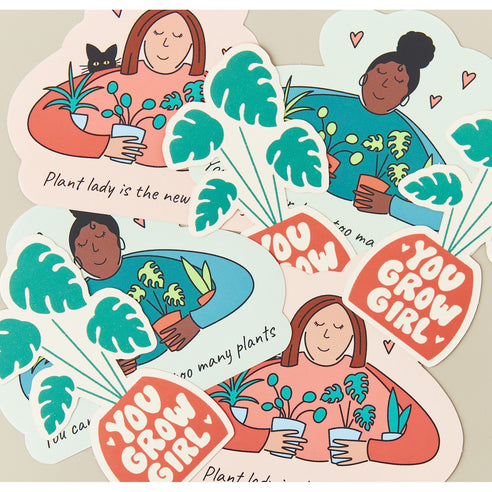House Plant Shop Sticker 'You Grow Girl' - House Plant Shop