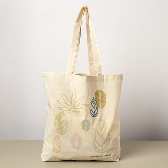 Pastel Leaves Tote Bag - House Plant Shop