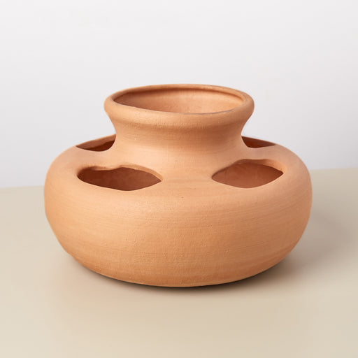 Multi Holes Large Terra Cotta Planter - 8 Inch
