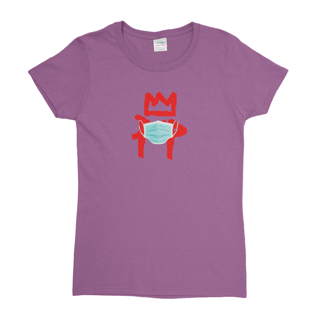 Kingpop Safe purple heart tee (Ladies)
