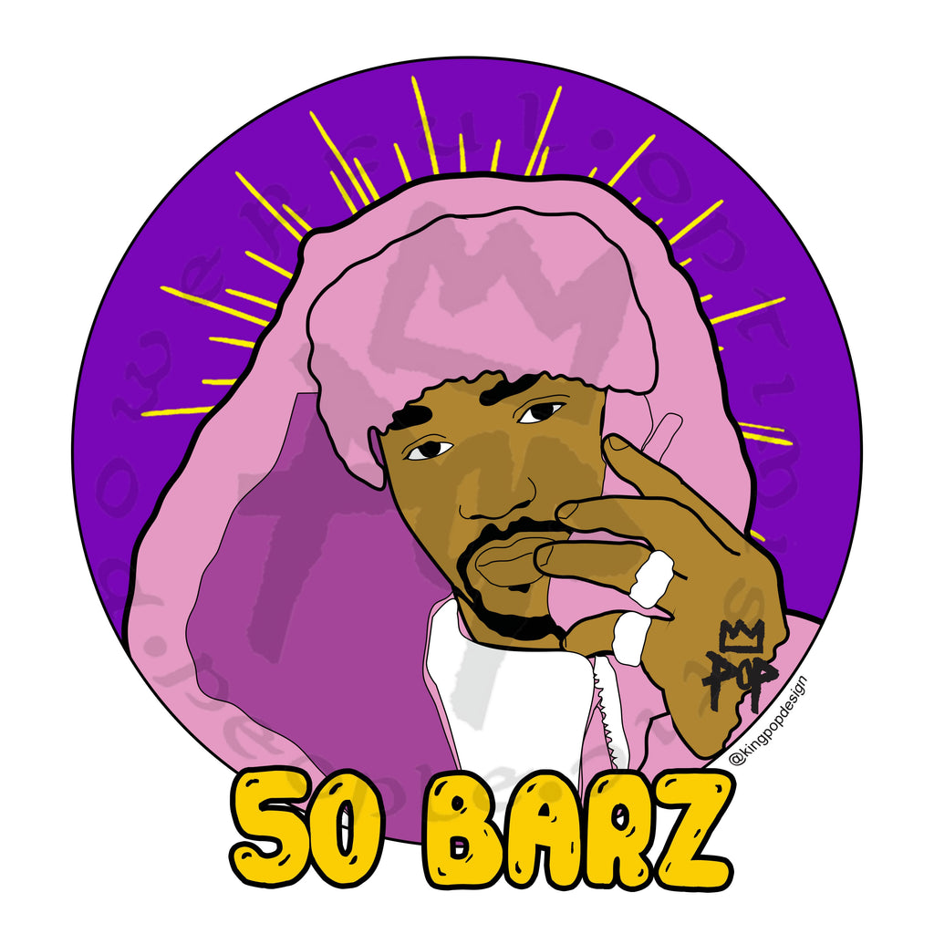 "Art by Kingpop William Floyd ""50 Barz"""