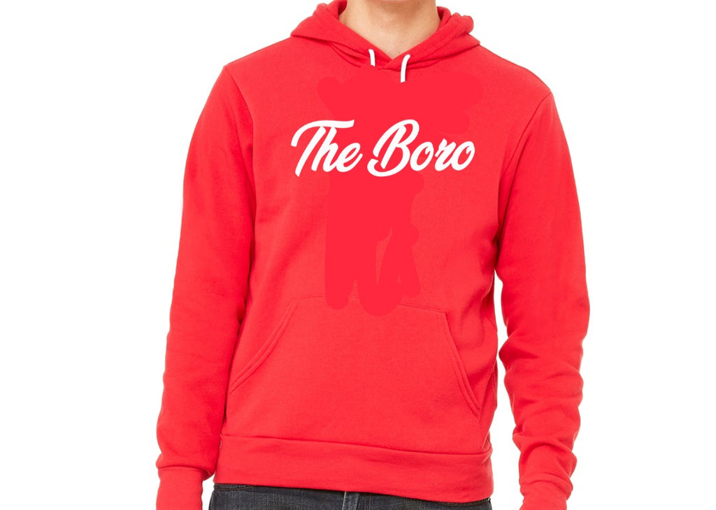 THE BORO CURSIVE RED/W