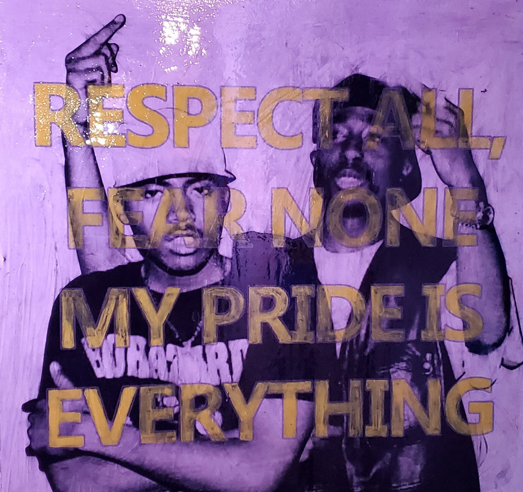 2pac & Nas respect Original Wood Frame Panel 40x40 (Rap Snacks)