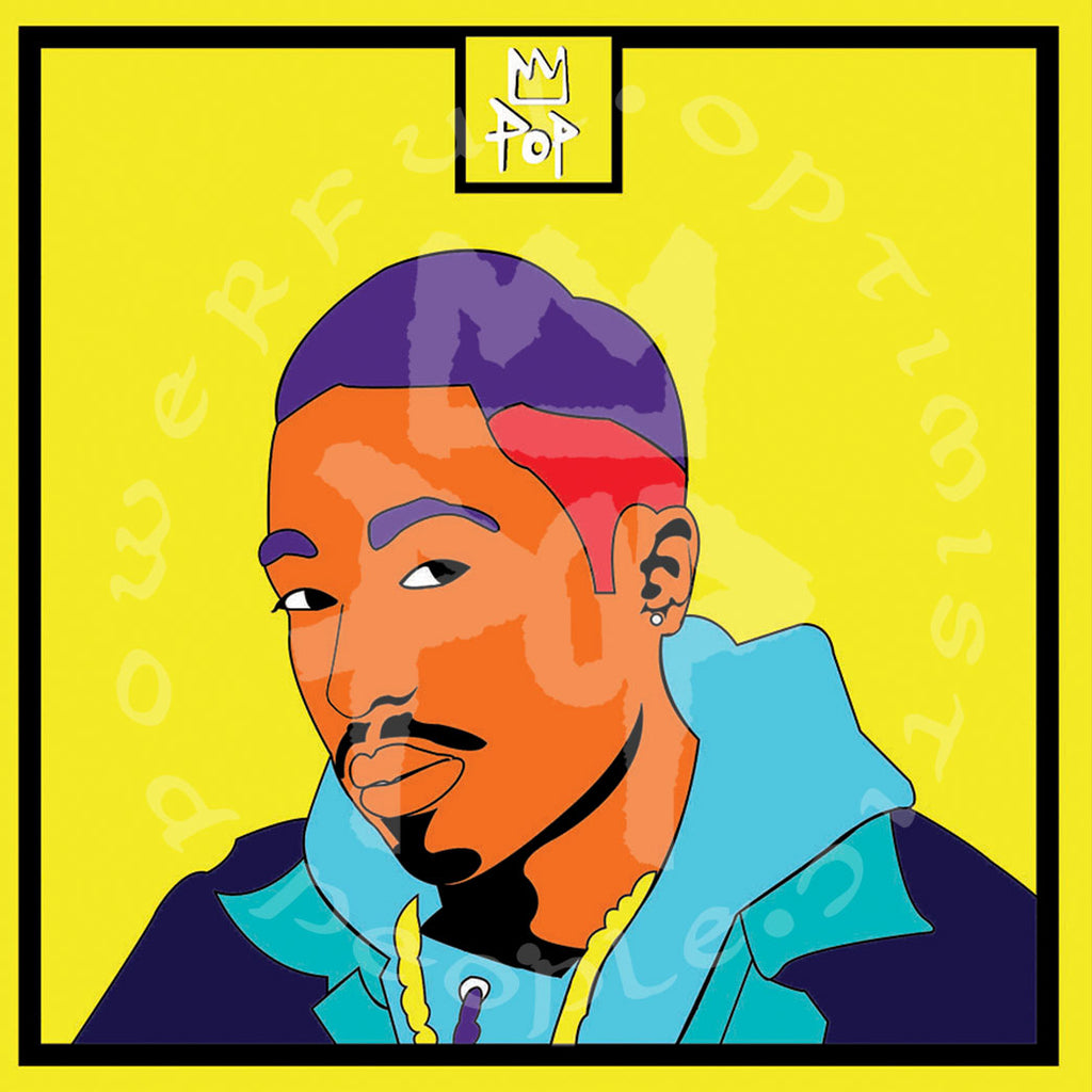 "Art by Kingpop William Floyd ""Pac In Color"""