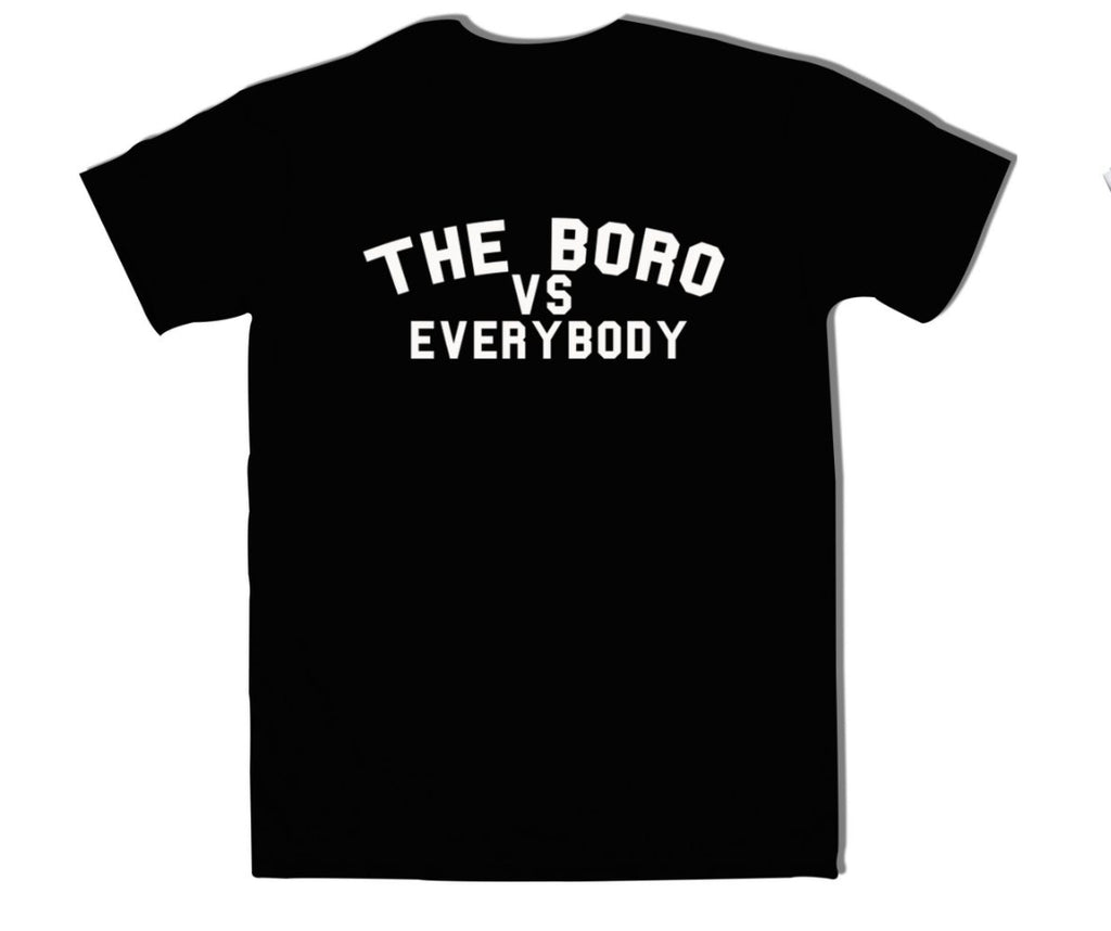 The Boro Vs Every Body Black tee