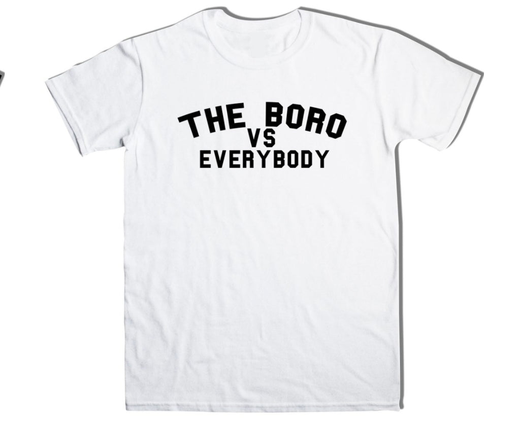 The Boro Vs Every Body White tee