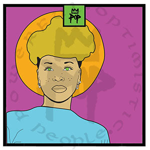 "Art by Kingpop William Floyd "" Badu"""