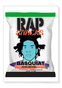 Basquiat Rap Snacks Original Wood Frame Panel 16x20