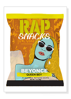 Beyonce Rap Snacks Original Wood Frame Panel 16x20