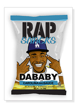 Dababy Rap Snacks Original Wood Frame Panel 16x20