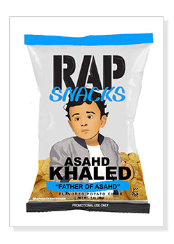 Asahd Khaled Rap Snacks Original Wood Frame Panel 16x20