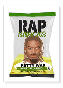 Fettywap Rap Snacks Original Wood Frame Panel 16x20