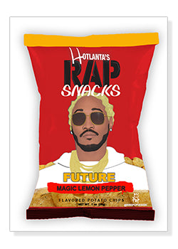 Future Rap Snacks Original Wood Frame Panel 16x20