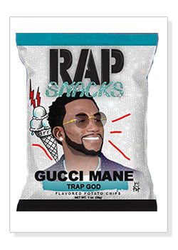 Gucci Rap Snacks Original Wood Frame Panel 16x20